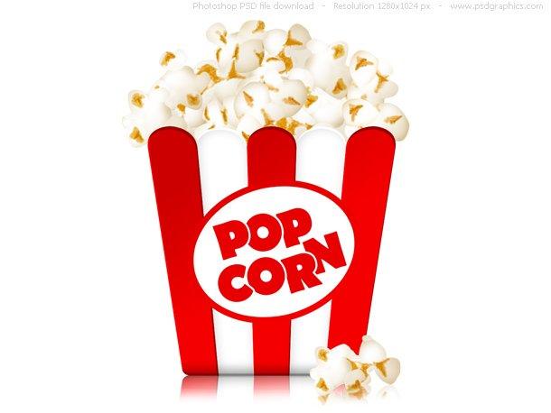 Box Of Popcorn Icon (PSD)