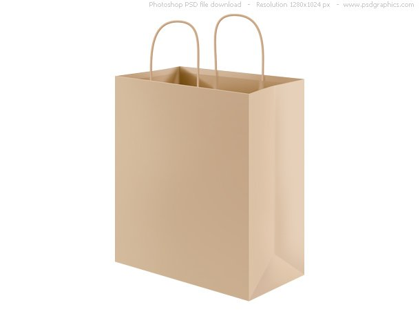 PSD Recycled Paper Shopping Bag