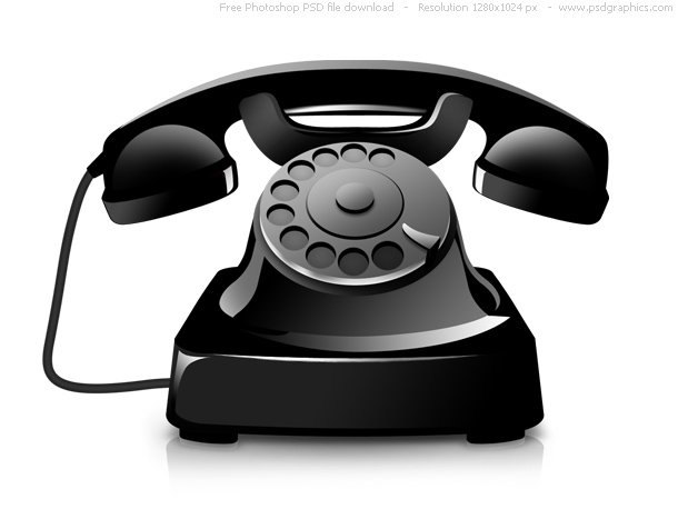PSD Old Telephone Icon