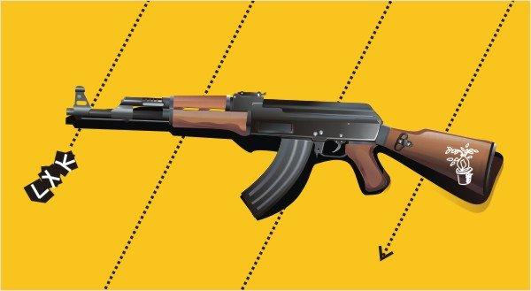 Vector AK47 rifles
