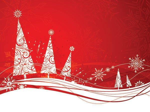 Simple Christmas Tree Snowflake