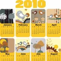 Cute Bird Theme  Calendar Template