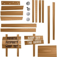 Vector Wood Textures And Signs