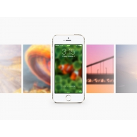 IOS7 GENTLE BLUR WALLPAPERS