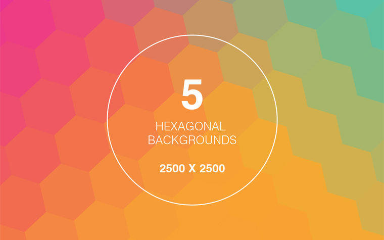 5 HEXAGON GEOMETRIC BACKGROUNDS