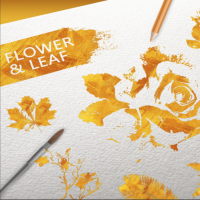 FLOWER AND LEAF GOLD TEXTURE ELEMENTS