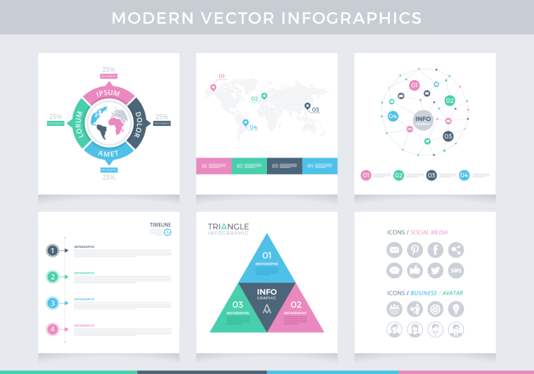 MODERN INFOGRAPHICS VECTOR PACK