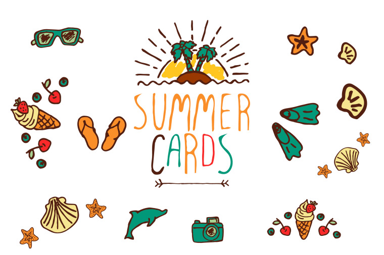 SUMMER CARDS FREEBIE