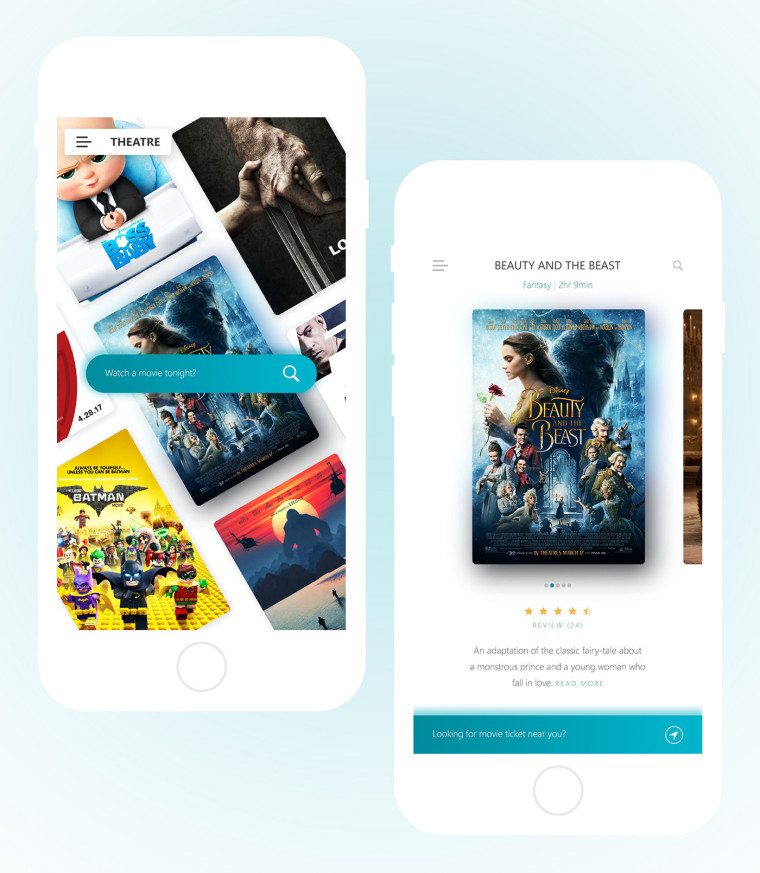 THEATRE MOVIE TICKET APP UI