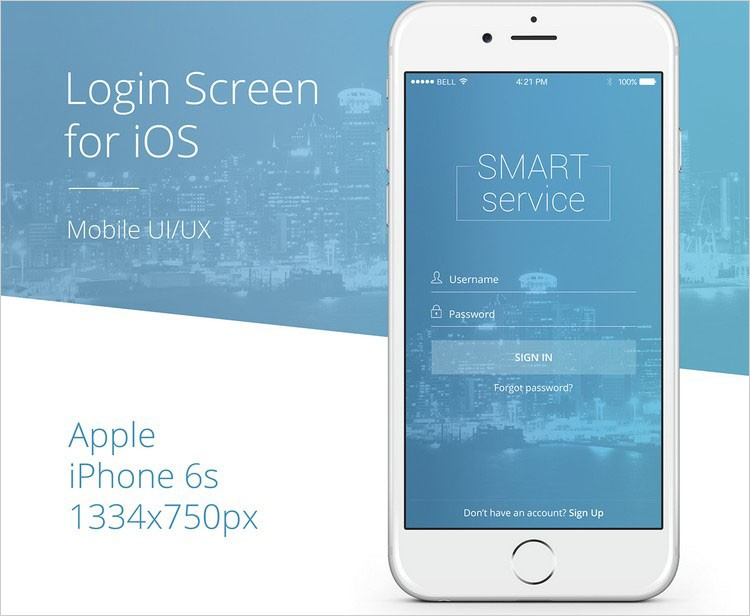 """LOGIN SCREEN"" FOR IOS"