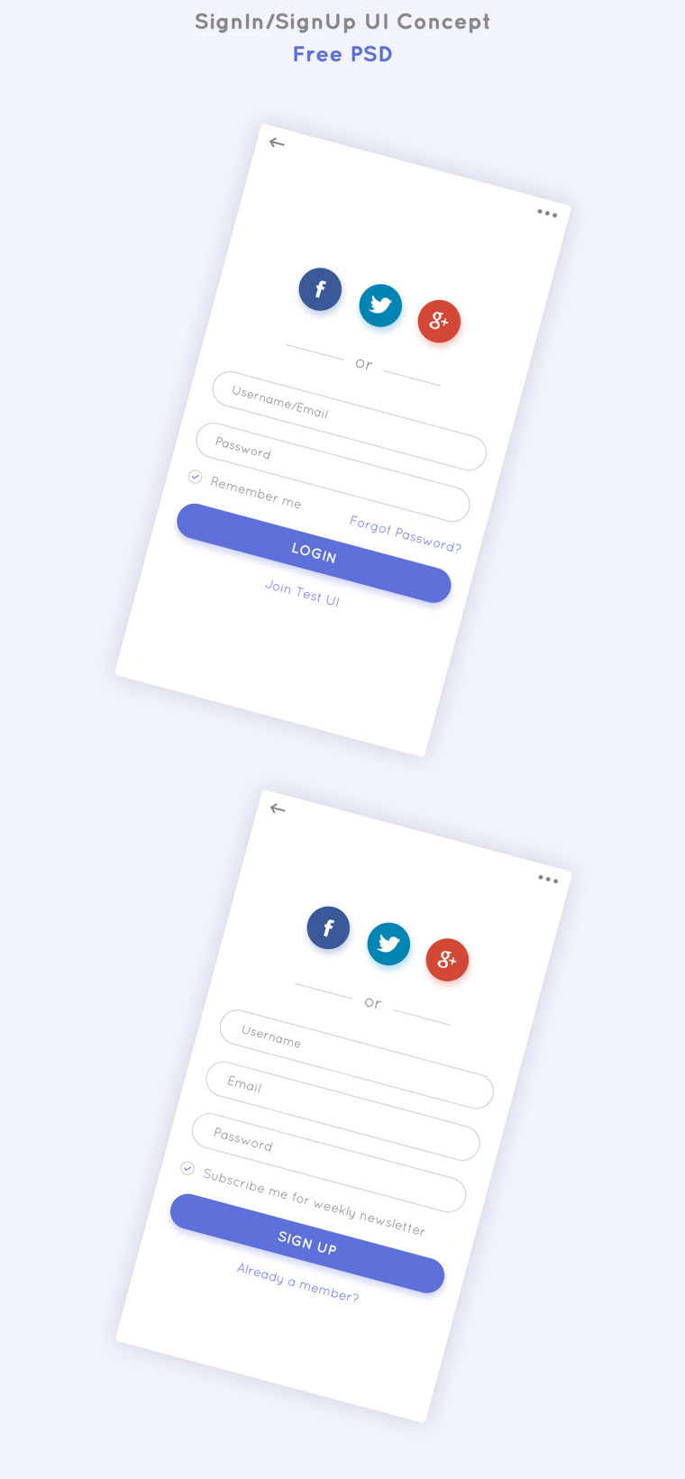 SIGNUP AND LOGIN UI DESIGN