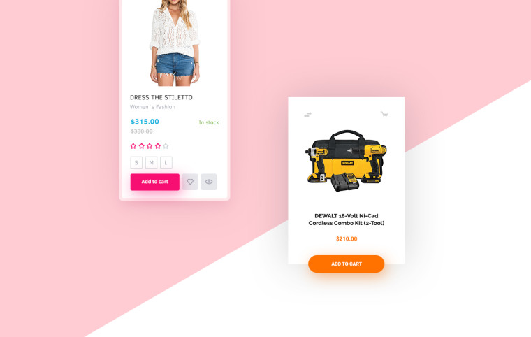 ECOMMERCE PRODUCT CARD FREEBIE