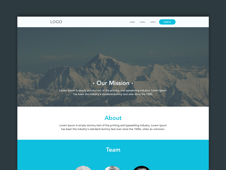BUSINESS PSD THEME