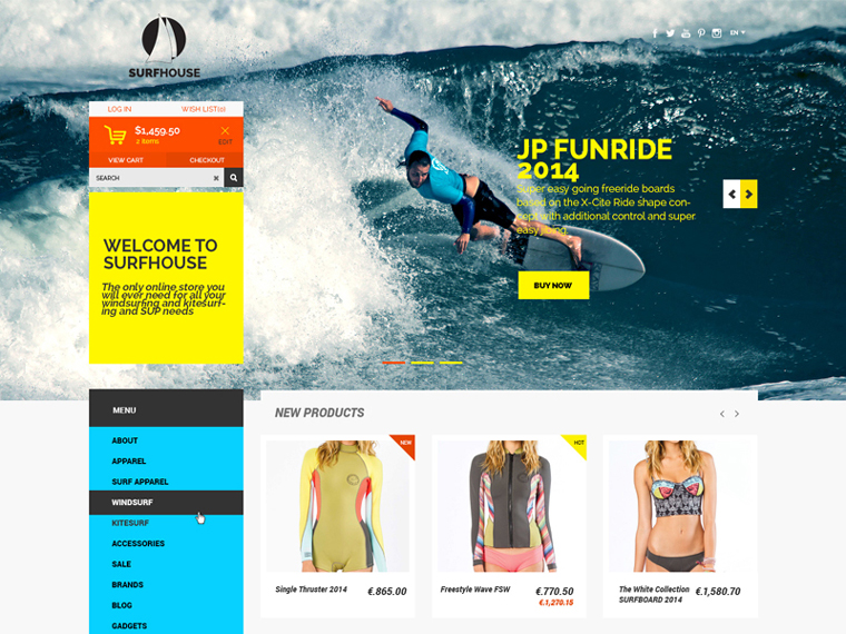 SURFHOUSE ECOMMERCE PSD TEMPLATE