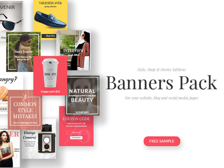 8 FREE BANNERS PSD
