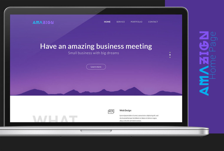 AMAZING LANDING PAGE TEMPLATE