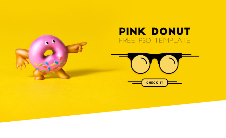 PINK DONUT FREE TEMPLATE
