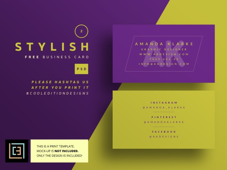 STYLISH BUSINESS CARDS FREEBIE