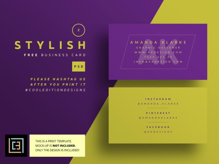 STYLISH BUSINESS CARDS FREEBIE