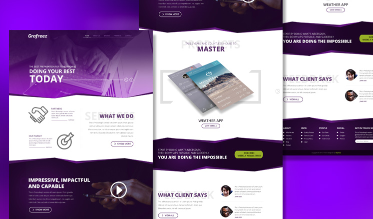 EMPIRE SINGLE PAGE TEMPLATE PSD