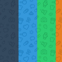 5 SEAMLESS ICON PATTERNS