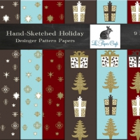 HAND SKETCHED HOLIDAY PATTERNS