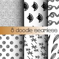 FREE DOODLE SEAMLESS PATTERNS