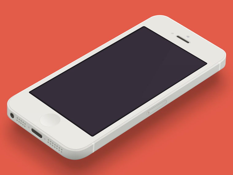 MINIMAL IPHONE 5 TEMPLATE