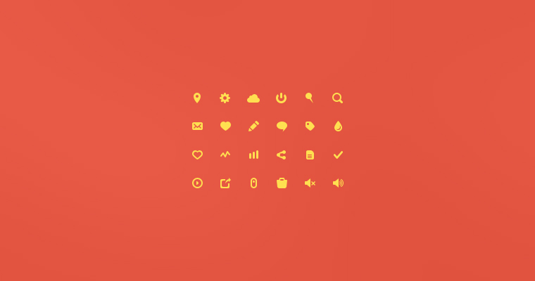 YELLOW GLYPH ICONS