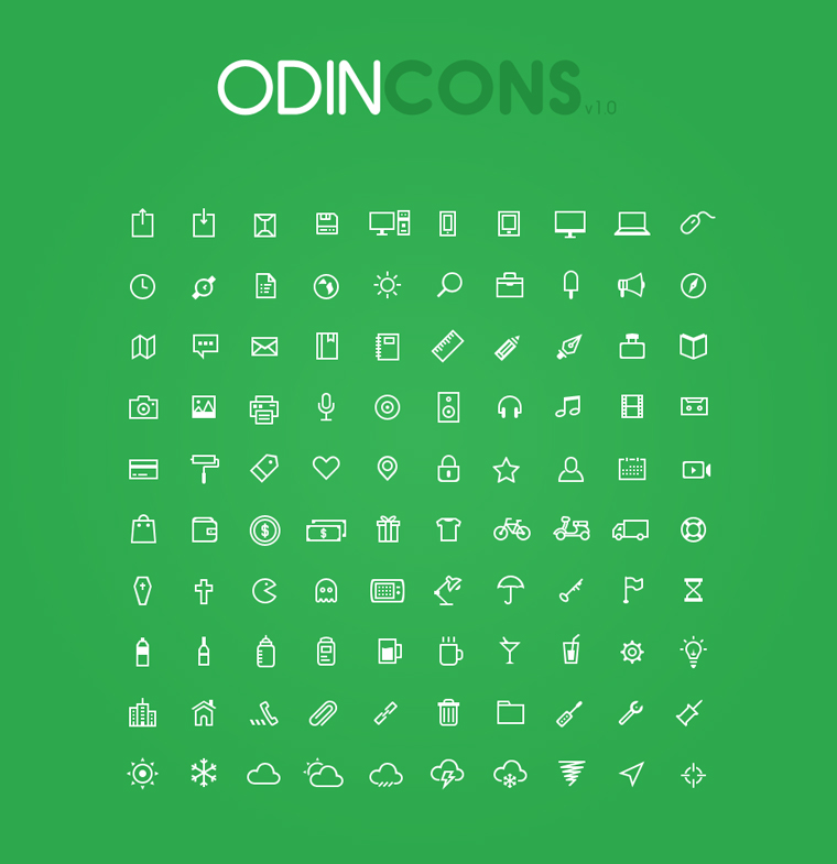 ODINCONS – 100 SHAPE ICONS