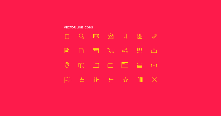 28 VECTOR LINE ICONS