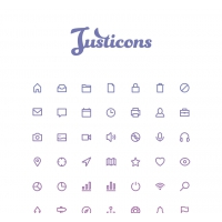 JUSTICONS – 140 STROKE ICONS