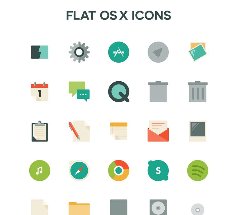 FLAT OS X ICONS