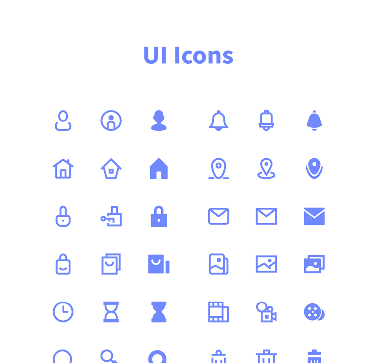 100 BASIC UI ICONS