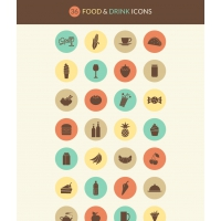 FOOD & DRINK ICON SET
