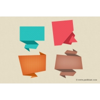ABSTRACT ORIGAMI SPEECH BUBBLES