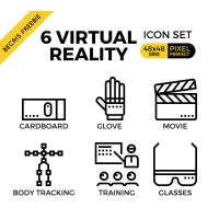 VIRTUAL REALITY OUTLINE ICONS