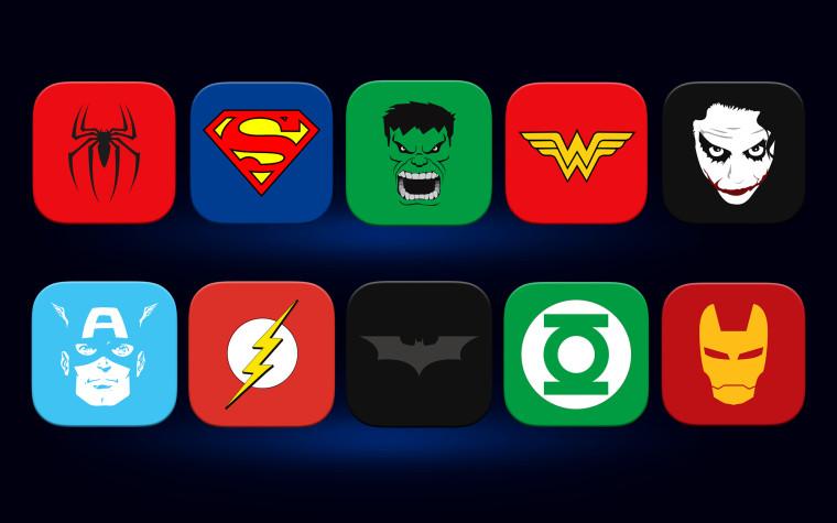 10 SUPER HERO ICONS
