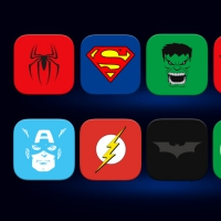 10 SUPER HERO ICONS