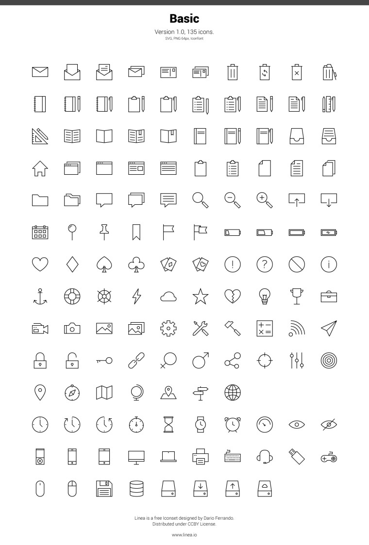 LINEA BASIC ICONSET