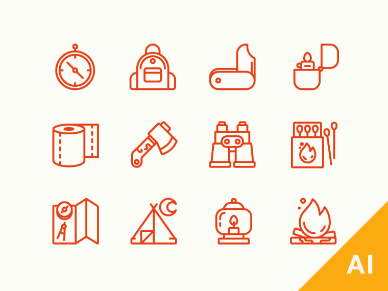 FREEBIE CAMPING ICONS