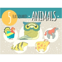 5 HAND DRAWN ANIMAL ICONS