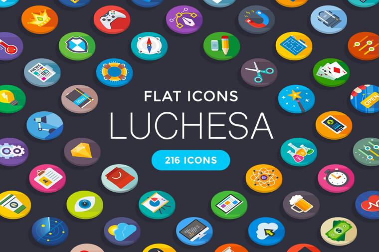 LUCHESA FLAT ICONS FREEBIE