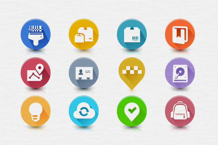 12 AWESOME FLAT ICONS