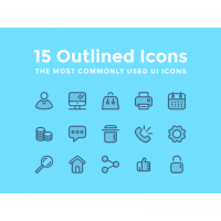 15 OUTLINED ICONS FREEBIE