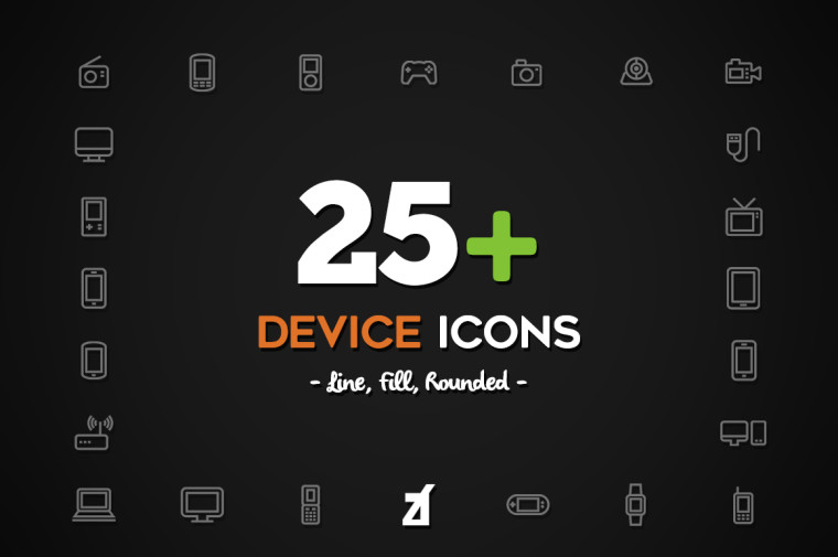 SMART DEVICE ICONS FREEBIE
