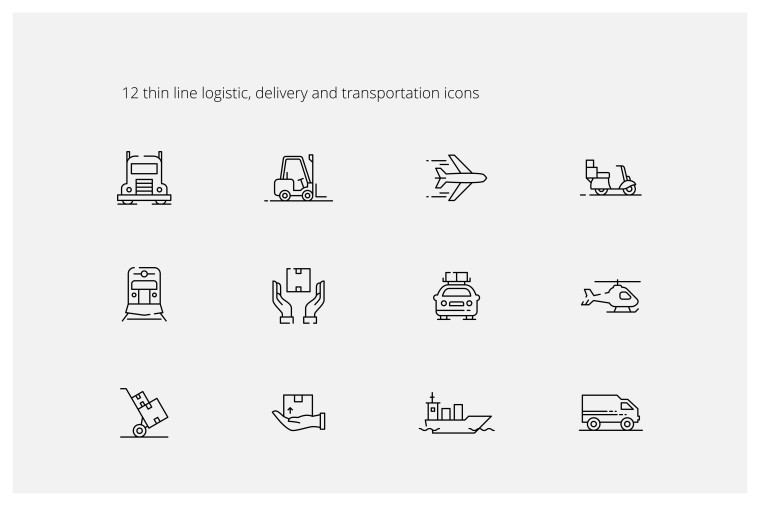 12 FREE LOGISTIC ICONS