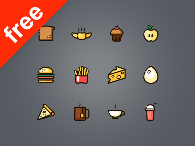 60 FREE FOOD ICONS
