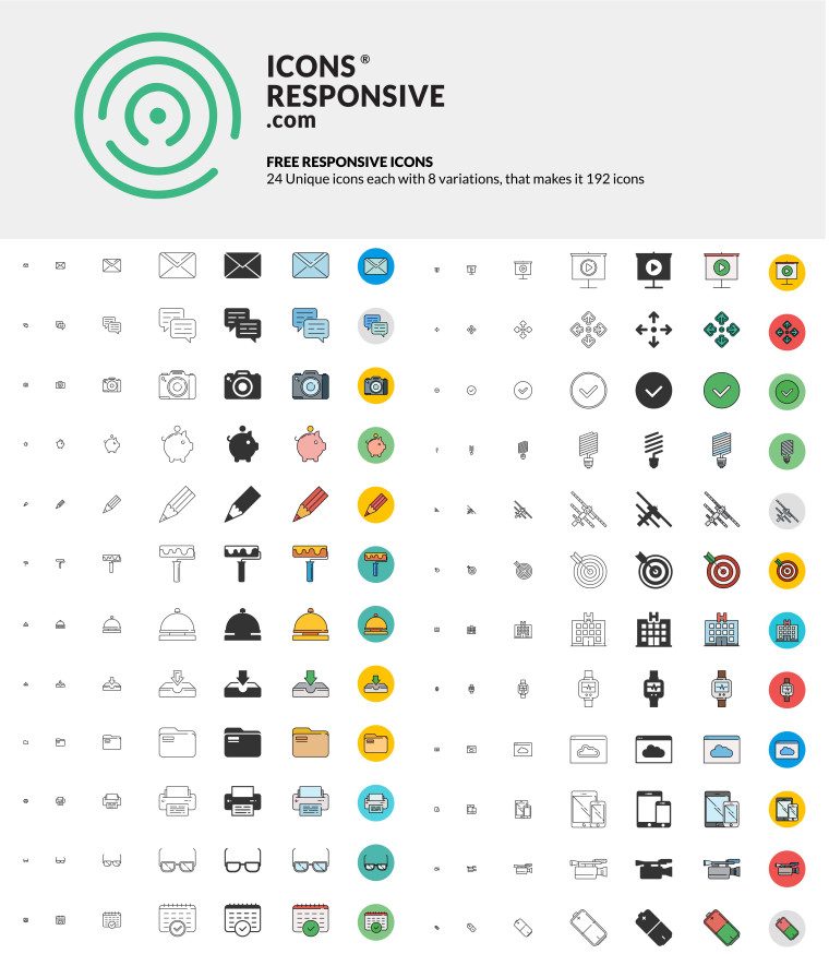 FREE RESPONSIVE ICONS BUNDLE