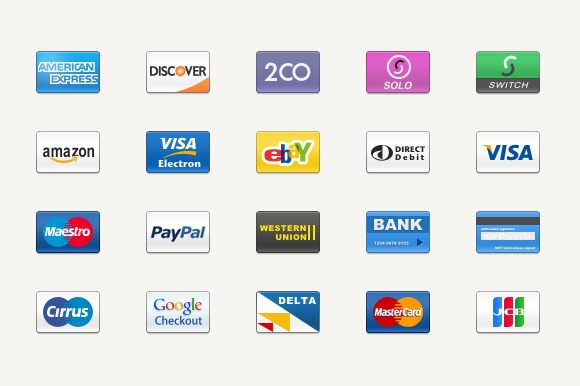 PAYMENT ICONS SET FREEBIE